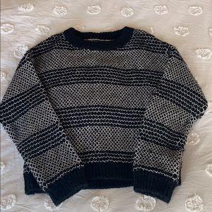 Current/Elliot black and ecru sweater